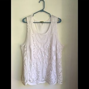 One World Live and Let Live lace tank top Size 3X